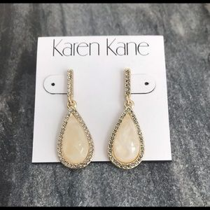 Gold rhinestone drop earrings - Karen Kane
